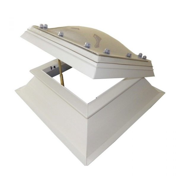 Polycarbonate Rooflight with Hinged uPVC Kerb